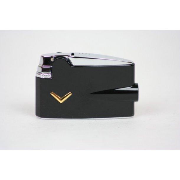 Ronson Mini Varaflame Black Lighter
