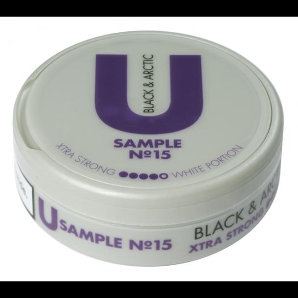 U Sample no. 15 Black & Arctic